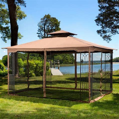 10x10 gazebo privacy curtains 10 x 12 regency ii patio gazebo with mosquito netting ebay
