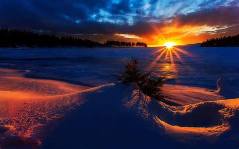 imagenes invierno hd fondo de pantalla amanecer invierno sol nieve hd