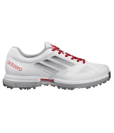adidas adizero sport golf shoes white metallic