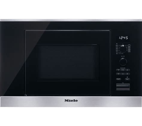 miele microwave buy miele m6032sc built in microwave with grill stainless steel free delivery currys