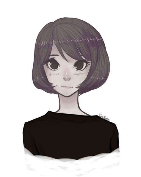 Drawing Of Bob Hair | bob cut girl by yuesato on deviantart