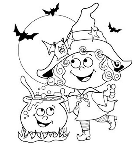 coloring pages halloween easy 24 free printable halloween coloring pages for kids