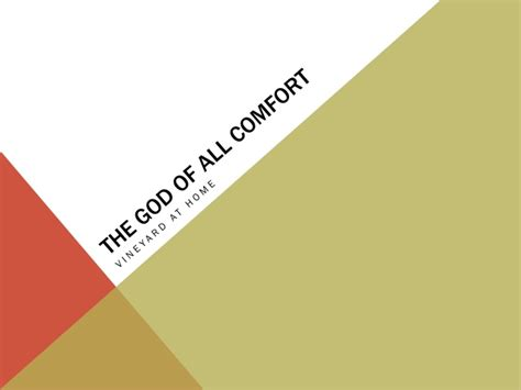 god of all comfort the god of all comfort