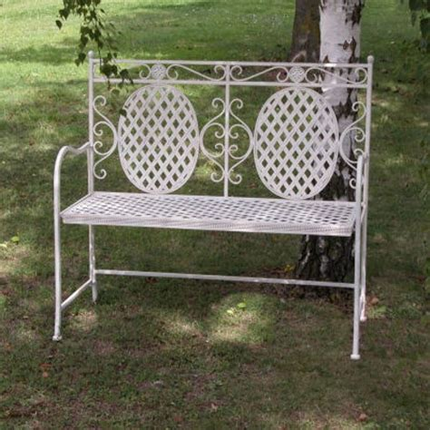 cream garden bench cream metal garden bench steel bench shabby chic bench