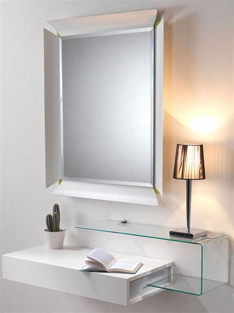 mobili d ingresso moderni due v mobile ingresso con vano portaoggetti specchio e