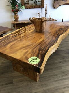 timber slab table dining tables gumtree australia