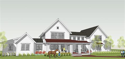 Farm House Plan Modern Farmhouse By Brenner Architects