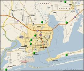 pensacola florida on map pensacola golf and golf course location maps
