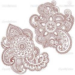 henna flower paisley pattern tattoo design