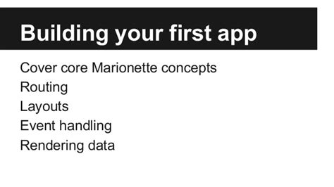 marionette layout view render marionette building your first app