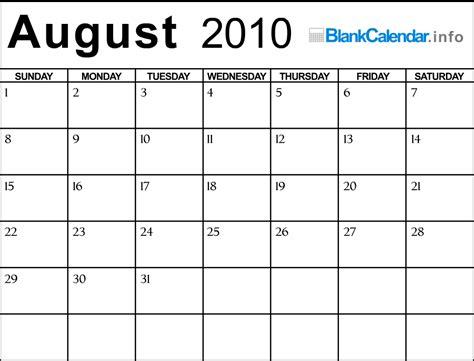 August 2010 Calendar August 2010 Calendar Search Results Calendar 2015