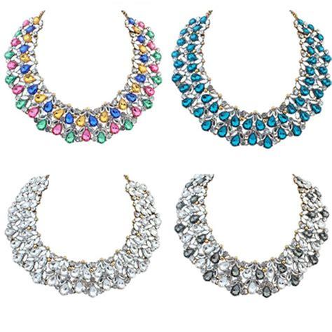 Kalung New Listing Fashion Jewelry Chain Rhinestone Colla s bling rhinestone beaded chandelier choker big collar necklace ebay