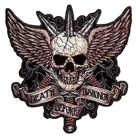 tattoo guns wings patch large novelty patches thecheapplace skull biker patches for men