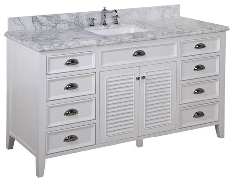60 in single sink bath vanity carrara white
