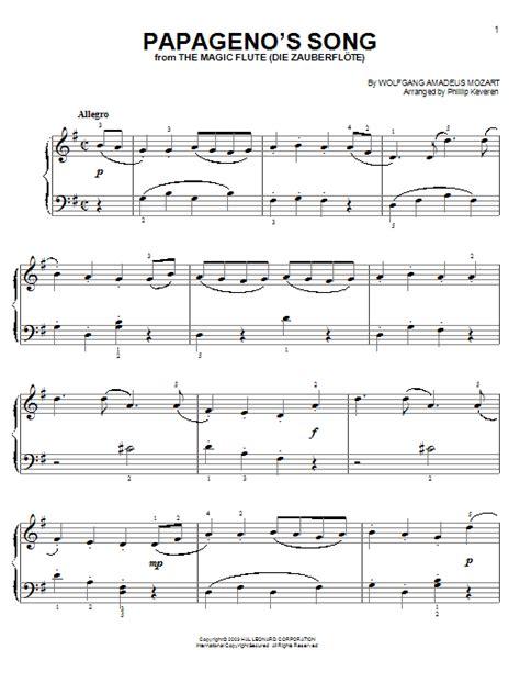 tutorial piano mozart papageno s song sheet music by wolfgang amadeus mozart
