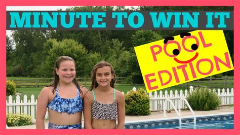 minute to win it challenges to do at home minute to win it challenge pool edition