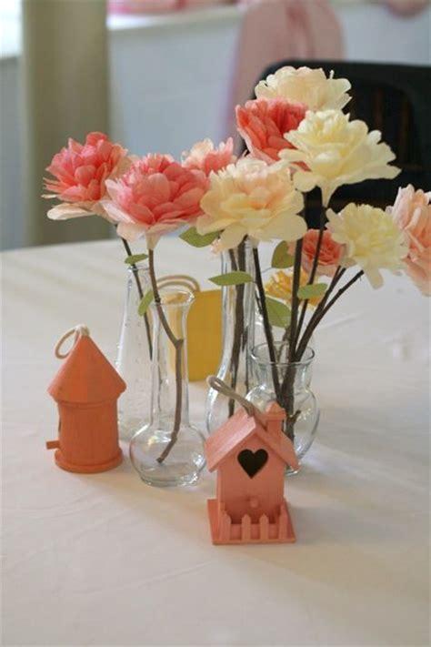 paper flower centerpieces tutorial diy tutorial coffee filter flowers wedding bird house