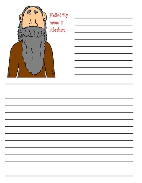 write in the paper abraham printable writing paper