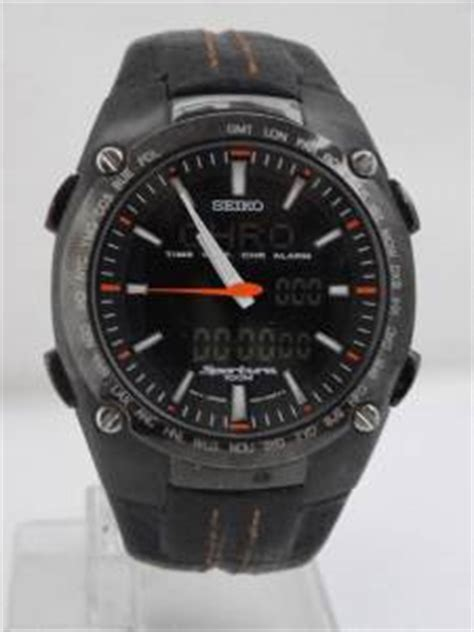 mens seiko sportura analog digital h023 00e0 chrono alarm
