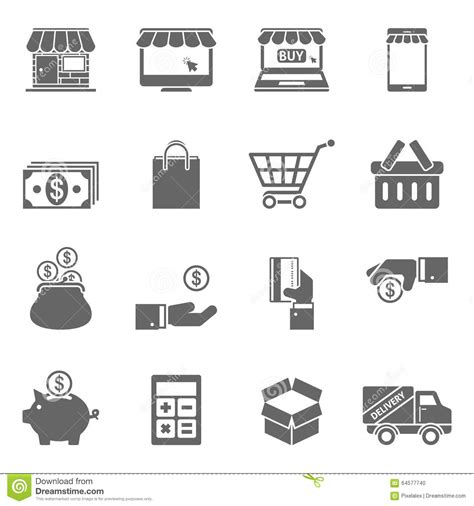 eps format online online shopping icons stock vector image 64577740