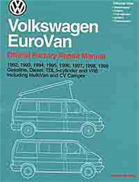 free auto repair manuals 1992 volkswagen riolet user handbook volkswagen vw eurovan transporter 1992 1999 owners service repair manual sagin workshop