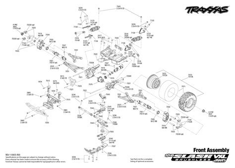 traxxas slash diagram 7009 front exploded view 1 16 slash 4x4 vxl traxxas co nz