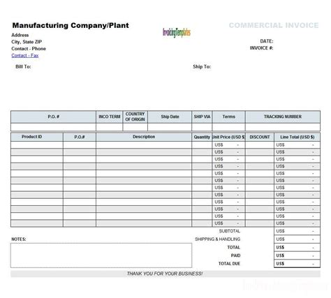 download invoice template spreadsheet rabitah net
