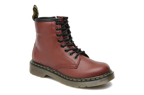 dr martens lace boot juniors ankle boots in burgundy at