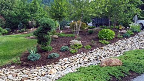 rock backyard landscaping ideas top 50 best river rock landscaping ideas hardscape designs