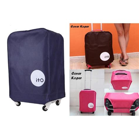 Cover Koper Luggage Cover Hello ito cover koper waterproof size s coffee jakartanotebook