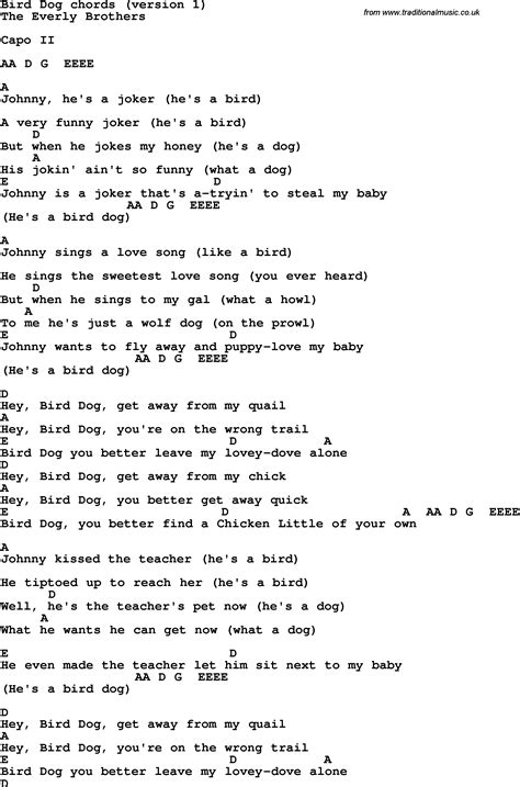 puppy songs song lyrics with guitar chords for bird