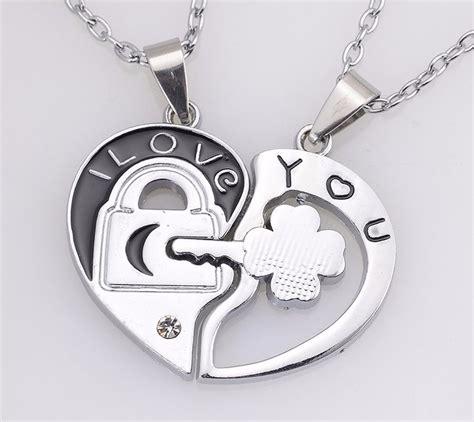 cadenas para novios collares para novios corazon llave perejas amor original