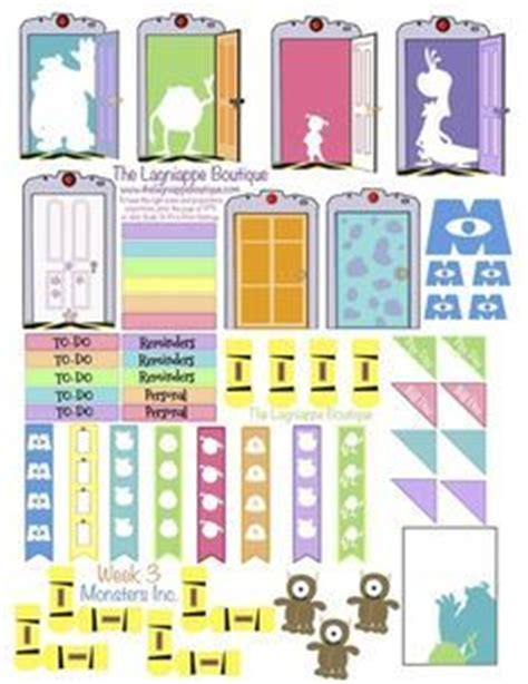 Memo Stick It Post It In Disney Princess kawaii planner clipart planner time printable
