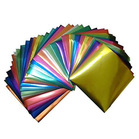 Origami Foil - foil color origami folding paper 90 sheets set metallic