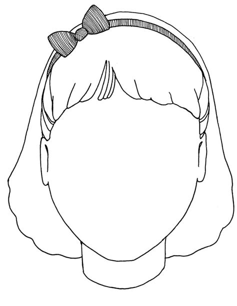 little girl face page coloring pages