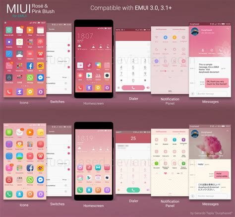 miui themes backup rose and pink blush miui themes for emui by duophased on