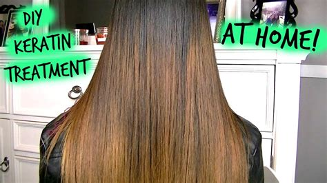 how to keratin treatment at home