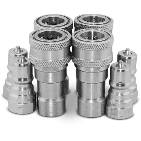 Hidrolik Coupler V Series 4 sets of 1 4 quot npt iso 7241 b disconnect hydraulic