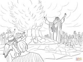 Elijah And The Prophets Of Baal Coloring Page elijah called from heaven coloring page free