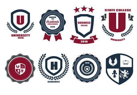 free logo design for university free school crests and logo vector download free vector