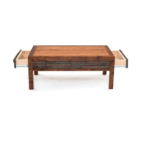 chelsea 2 drawer coffee table green gables
