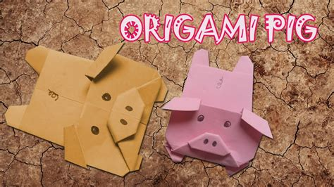 How To Make Paper Pig - origami pig origami easy