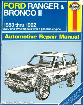 book repair manual 1992 ford bronco navigation system used haynes ford ranger pick ups and bronco ii 1983 1992