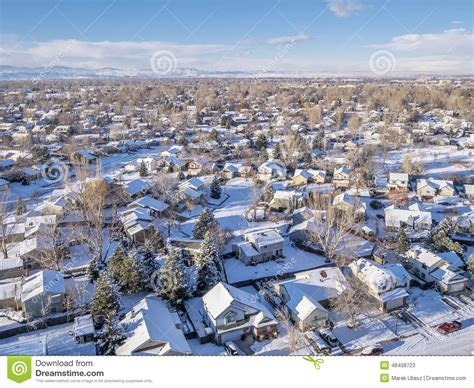 fort collins fort collins winter cityscape editorial stock photo image 48408723