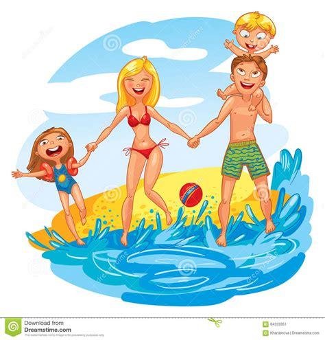 imagenes animadas vacaciones playa familia el vacaciones ilustraci 243 n del vector imagen