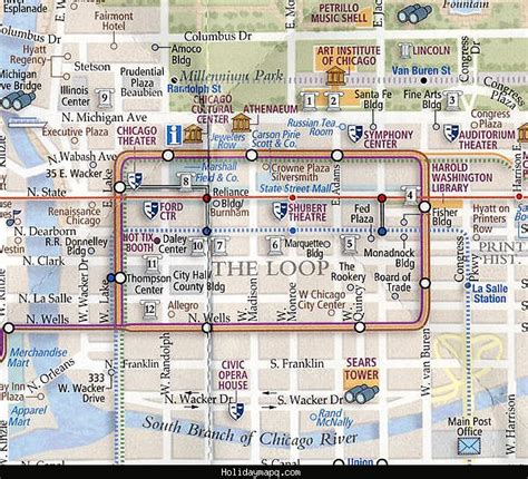 chicago map attractions chicago map tourist attractions map travel