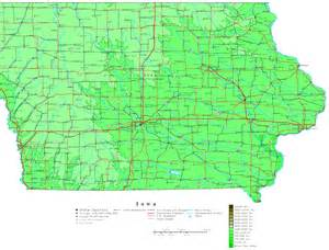 Map Of The State Of Iowa by Iowa Contour Map
