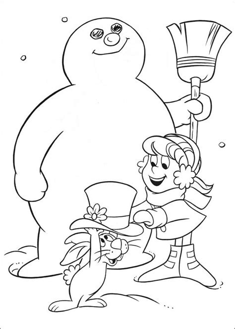 Kids N Fun Com 24 Coloring Pages Of Frosty The Snowman Frosty Coloring Pages