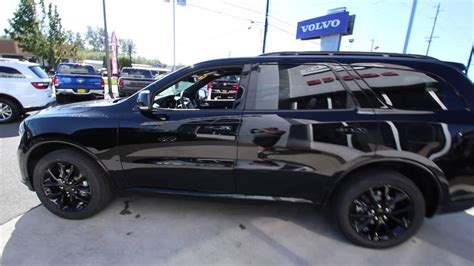 jeep durango blacked out 2017 dodge durango gt black crystal hc629691 mt