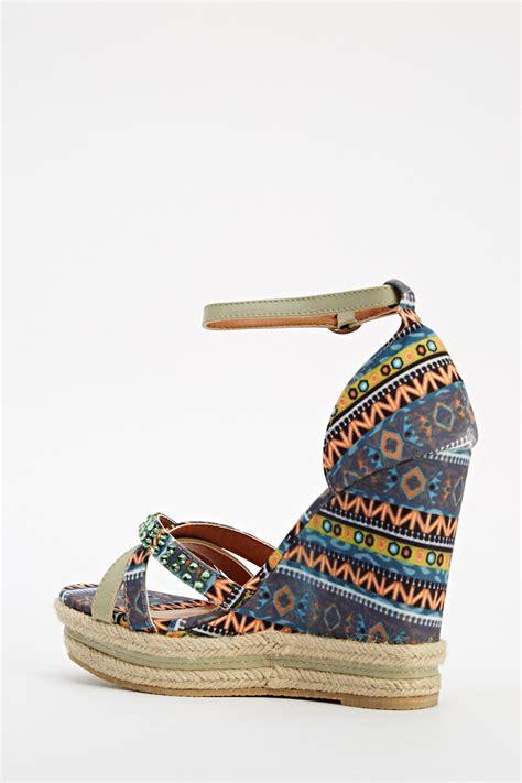 aztec sandals aztec printed espadrille wedge sandals just 163 5